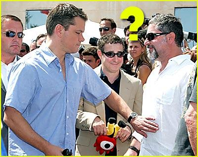 Matt Damon Touches Tummy