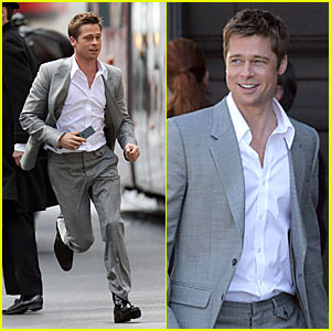 Brad Pitt Films Softbank Commercial -- Again!