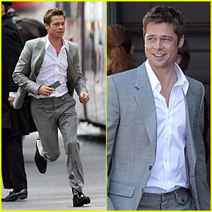 Brad Pitt Films Softbank Commercial -- Again!