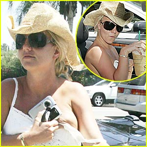 Britney Spears: Hanging By a Dress Strap