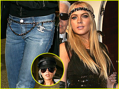 Chanel Chain: From Lindsay's Head to Vicky's Waist