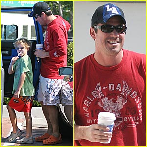 Dean Cain &#038; Son in Matching Crocs