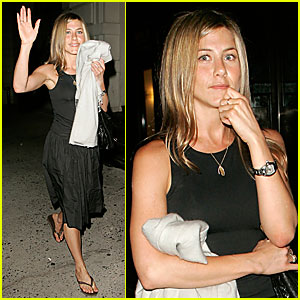 Jennifer Aniston's Big Apple Dinner