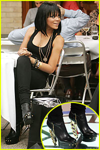 Rihanna Wears Her Brass Knuckle Boots in Public
