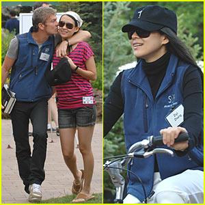 Ziyi Zhang's Bike Ride With Her Boyfriend