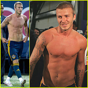 David Beckham is a Shirtless Spectacle