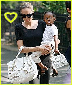Angelina & Zahara's Matching Bags