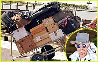 Johnny Depp is Lord of the Luggage