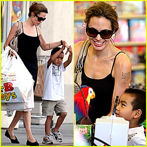 Angelina & Maddox's Toy Shopping Spree