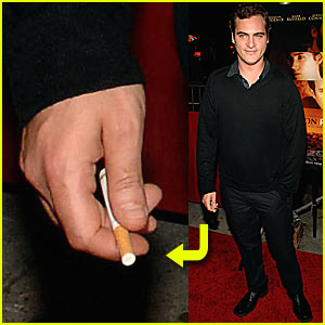 Joaquin Phoenix's Red Carpet Cigarette
