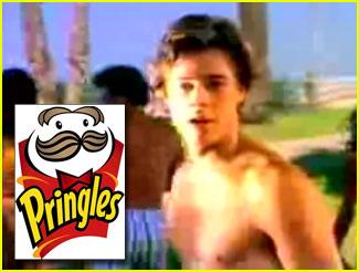 Brad Pitt's Pringles Commercial