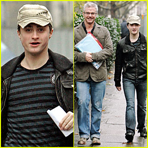 Daniel Radcliffe Runs in the Rain