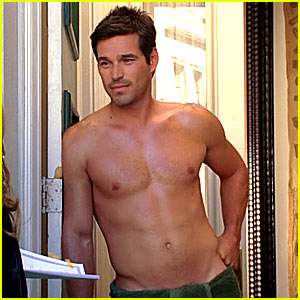 Eddie Cibrian is Shirtless