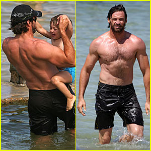 Hugh Jackman is a Shirtless Stallion