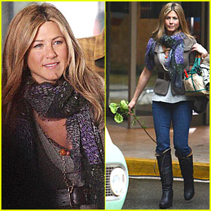 Jennifer Aniston is a Flower Girl