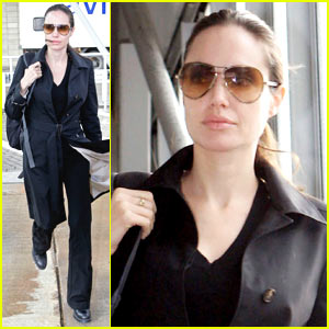 Angelina Jolie Lands in London