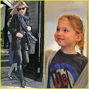 Kate Moss Shops with Daughter Lila