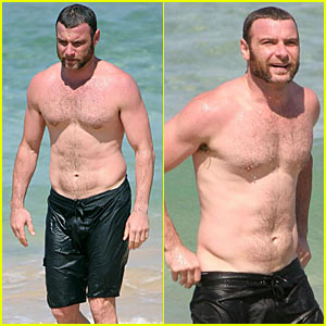 Liev Schreiber is Shirtless