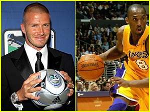 David Beckham & Kobe Bryant Lend Each Other Support