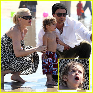 Kingston Rossdale's Beach Bonding Time