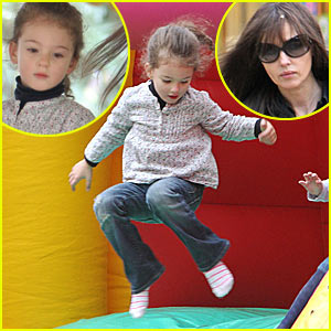 Monica Bellucci's Daughter Goes Jump, Jump