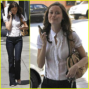Summer Glau Enjoys the Spring