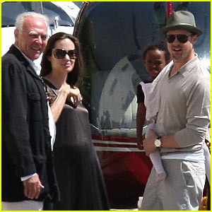 Brad & Angelina Enter Helicopter Heaven