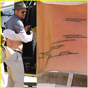 Brad Pitt Flys With His Boys