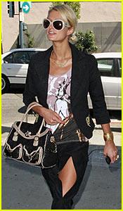 Paris Hilton Flashes Some Thigh