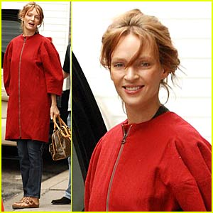 Uma Thurman Enters Motherhood