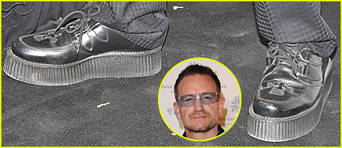 Bono Puts On His Platform Shoes