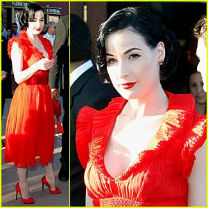 Dita Von Teese Parties With W Magazine