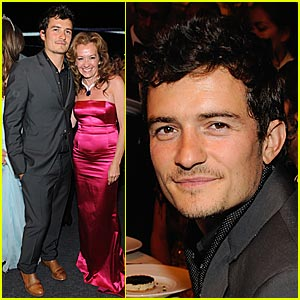 Orlando Bloom Hits Up White Tie and Tiara Ball