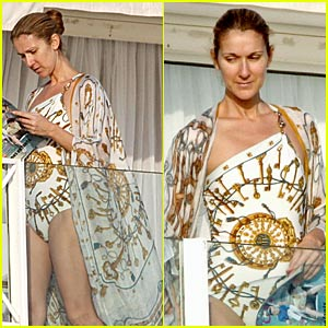 Celine Dion Has Swimsuit Style Celebrity Babies Celine