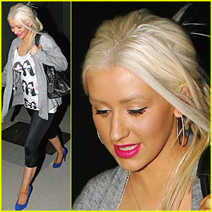 Christina Aguilera Visits Studio City's Studio