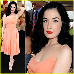 Dita Von Teese is Just Peachy