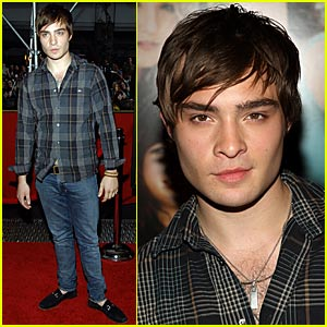 Ed Westwick Wears Traveling Pants