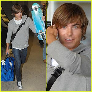 Zac Efron's Skateboard Skedaddle