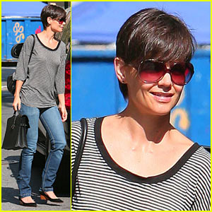 Katie Holmes Shows Off True Stripes
