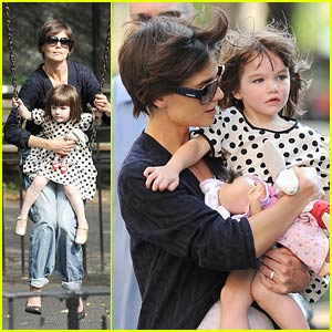 Suri Cruise Loves Playing At The Park