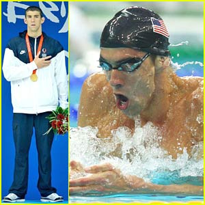 Michael Phelps Goes For Gold