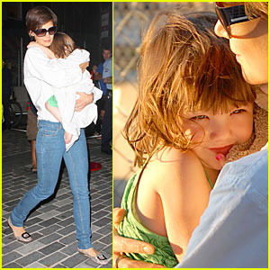 Suri Cruise is Chelsea Piers Playful