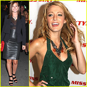 Leighton Meester Blake Lively on Lively And Leighton Meester Arrive At Mercedes Benz Blake Lively Vs