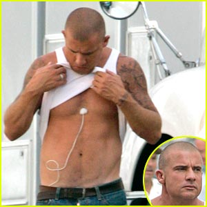 Dominic Purcell Has A Toned Tummy