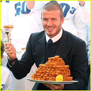 David Beckham Forks Over The Fishsticks