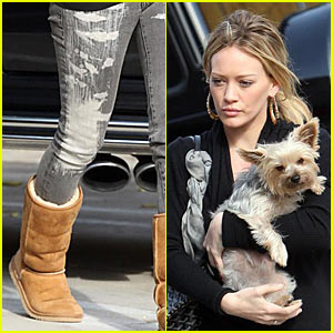 Hilary Duff Sports Paint-Spattered Jeans