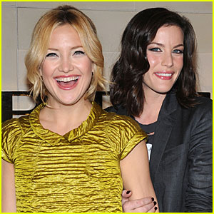 Kate Hudson and Liv Tyler Bump Burberry