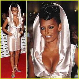 Melanie Brown Rocks Hooded Dress