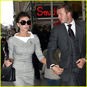 The Beckhams Watch Katie Holmes's Broadway Play