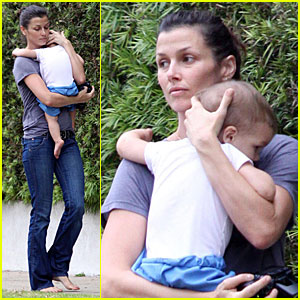 Bridget Moynahan Carries Her Baby Boy